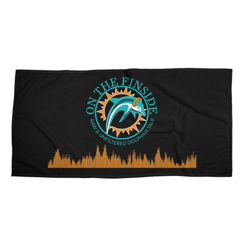 Fired up Fins Glow Accessories Beach Towel by OnTheFinSide's Artist Shop