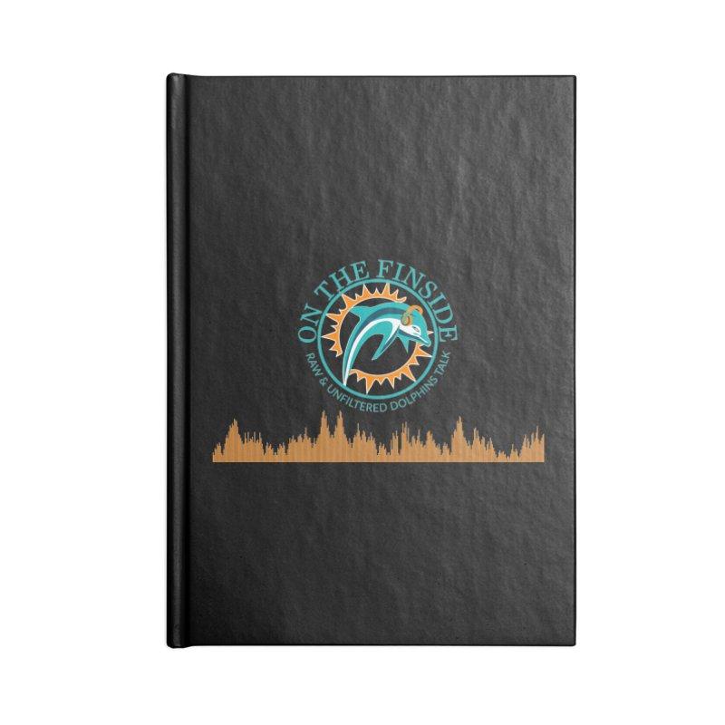 Fired up Fins Glow Accessories Notebook by OnTheFinSide's Artist Shop