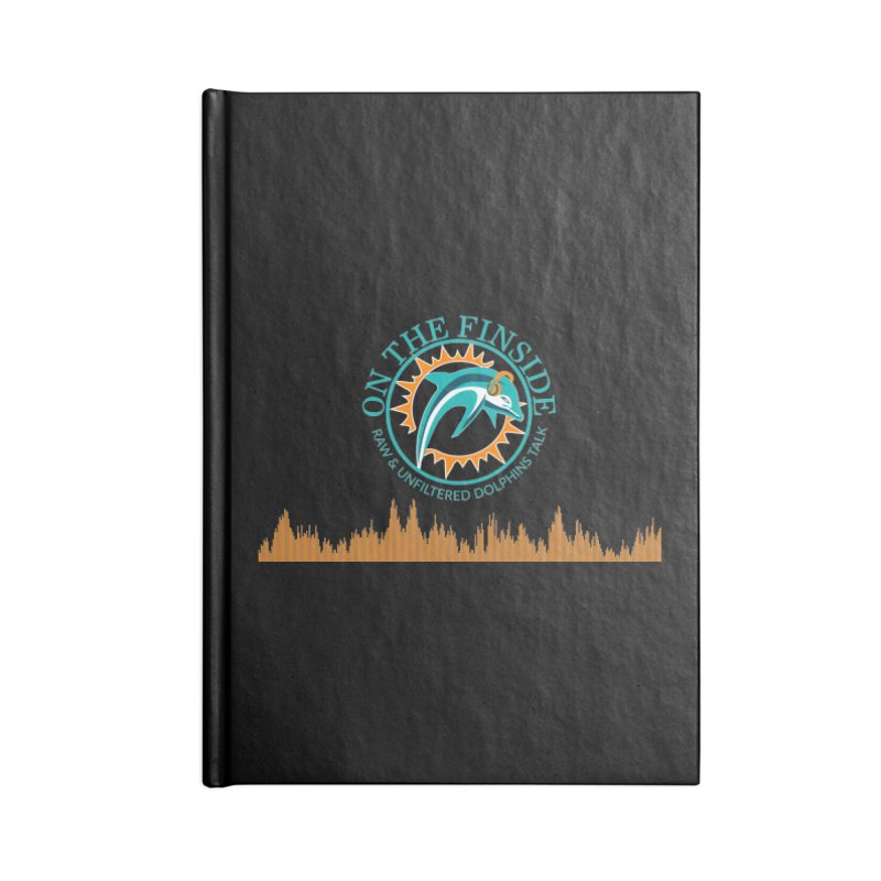 Fired up Fins Glow Accessories Lined Journal Notebook by On The Fin Side's Artist Shop