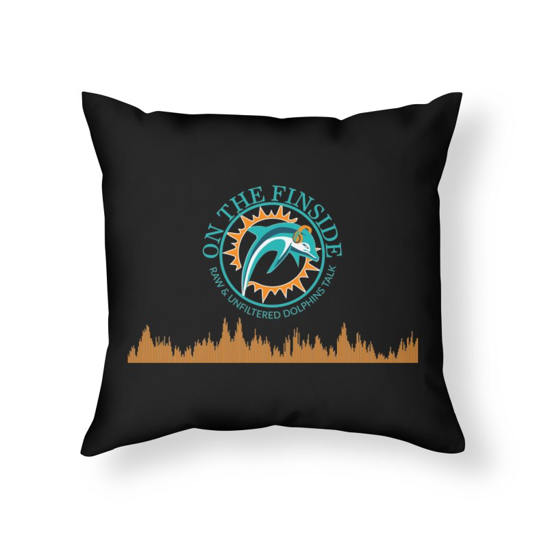 Fired up Fins Glow Home Throw Pillow by OnTheFinSide's Artist Shop