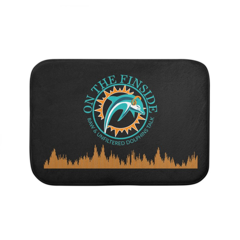 Fired up Fins Glow Home Bath Mat by OnTheFinSide's Artist Shop