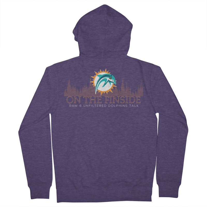 FinSide Fire Men's Zip-Up Hoody by On The Fin Side's Artist Shop