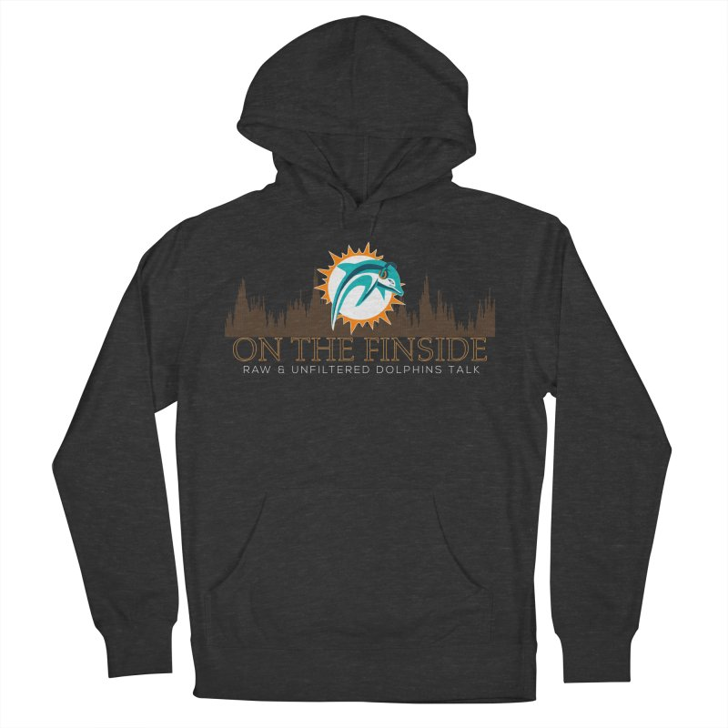 FinSide Fire Men's French Terry Pullover Hoody by On The Fin Side's Artist Shop