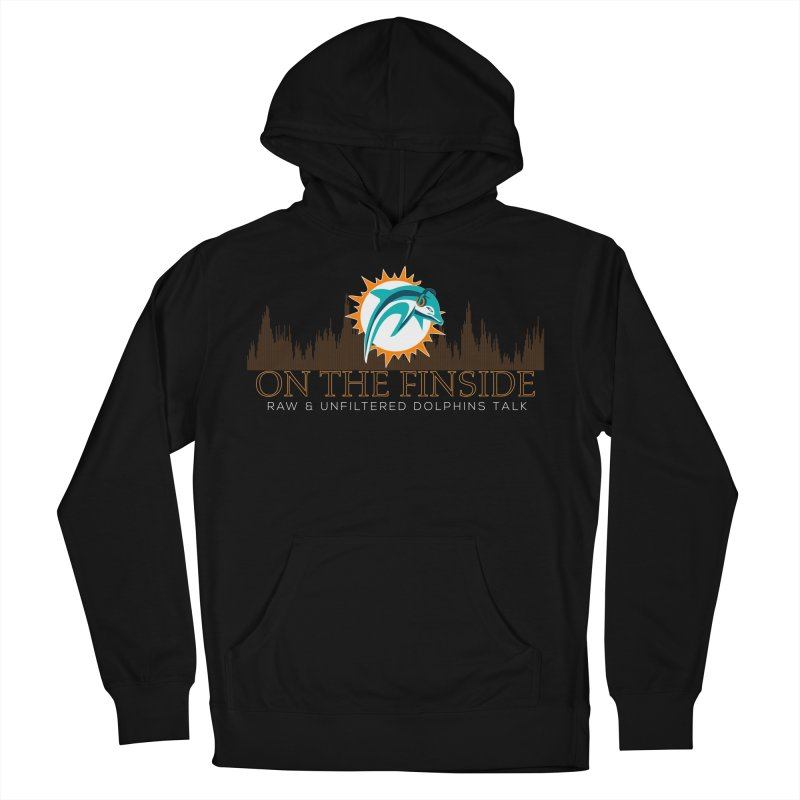 FinSide Fire Men's French Terry Pullover Hoody by OnTheFinSide's Artist Shop