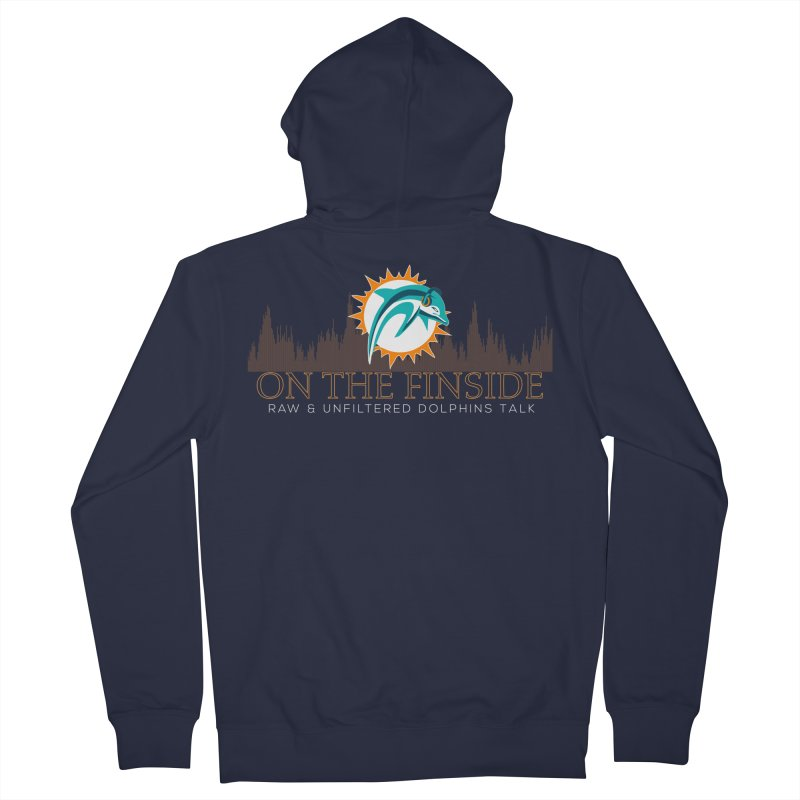 FinSide Fire Men's French Terry Zip-Up Hoody by On The Fin Side's Artist Shop