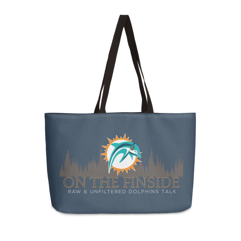 FinSide Fire Accessories Weekender Bag Bag by On The Fin Side's Artist Shop