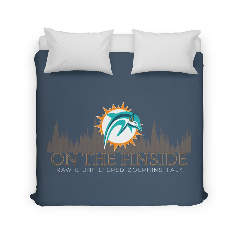 FinSide Fire Home Duvet by OnTheFinSide's Artist Shop