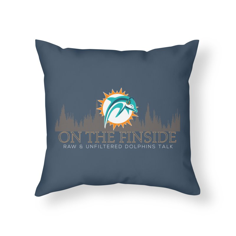 FinSide Fire Home Throw Pillow by On The Fin Side's Artist Shop