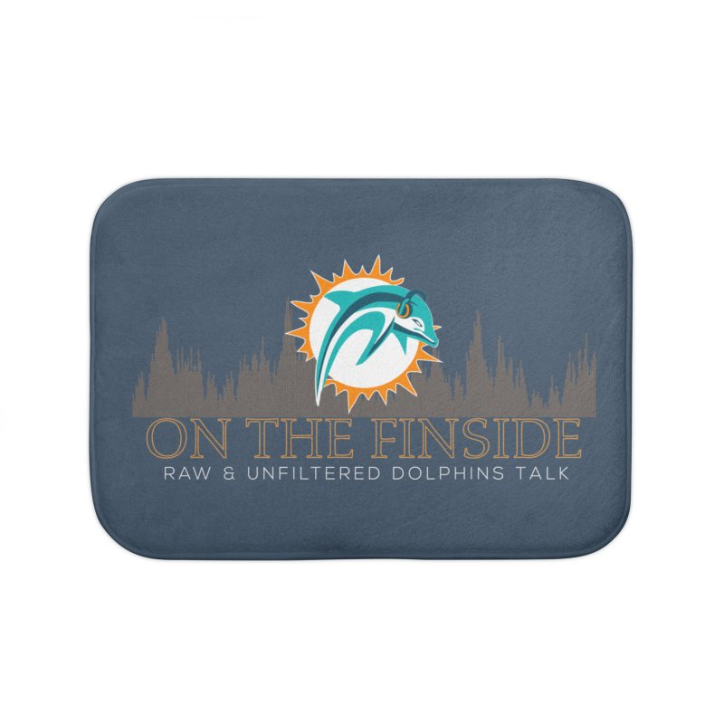 FinSide Fire Home Bath Mat by OnTheFinSide's Artist Shop