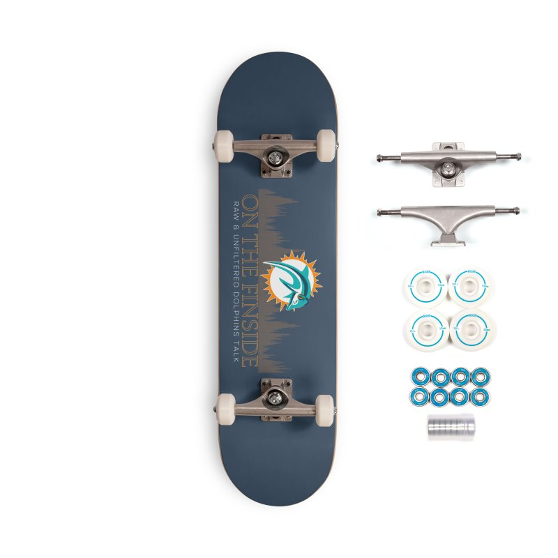 FinSide Fire Accessories Complete - Basic Skateboard by On The Fin Side's Artist Shop