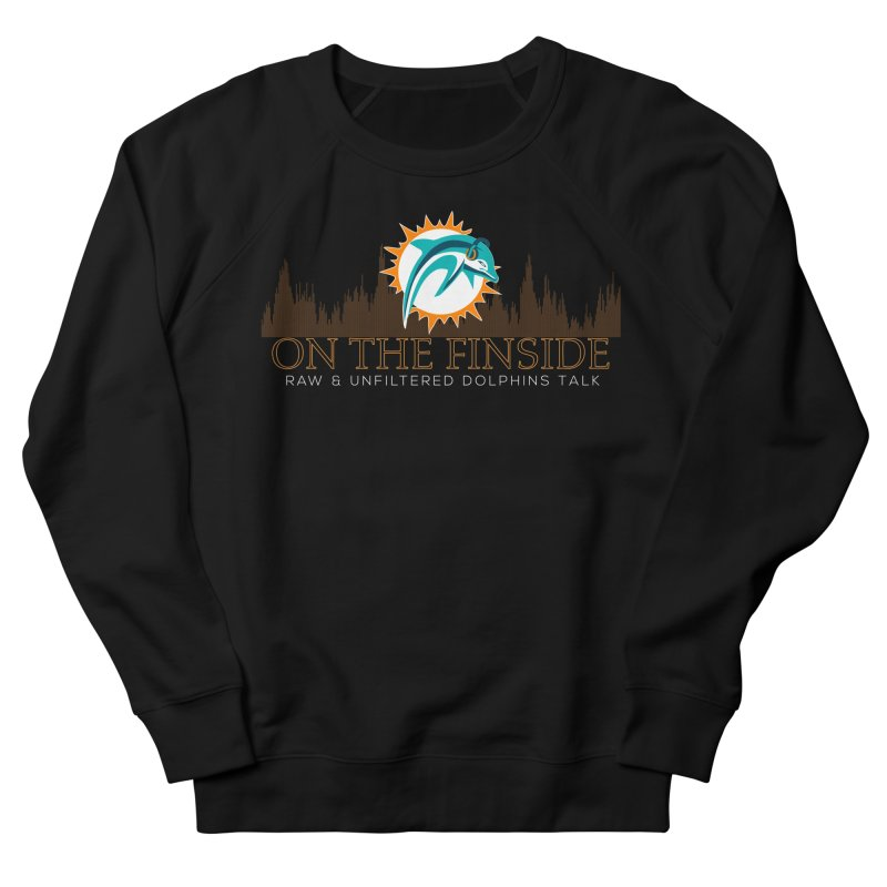 Aqua Fire Men's French Terry Sweatshirt by On The Fin Side's Artist Shop