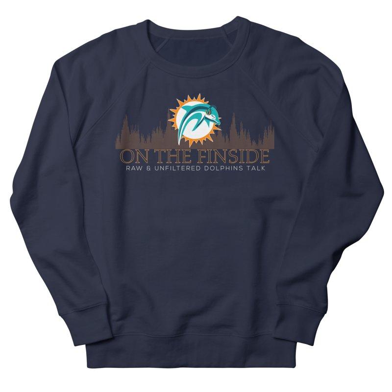 Aqua Fire Men's French Terry Sweatshirt by OnTheFinSide's Artist Shop