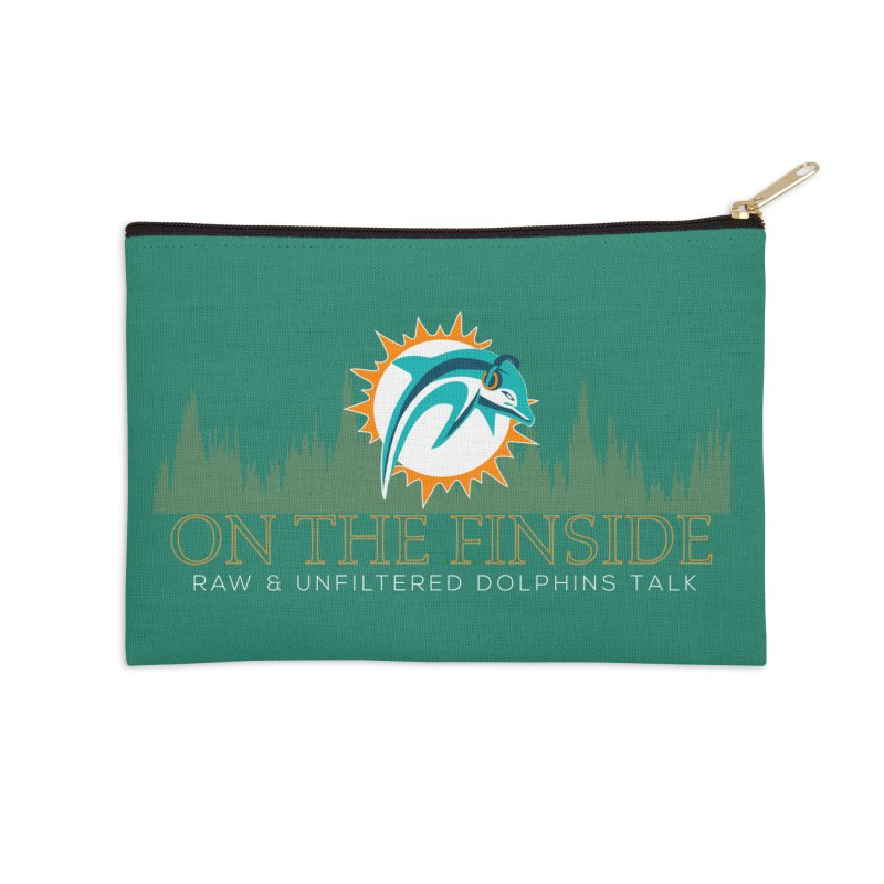 Aqua Fire Accessories Zip Pouch by On The Fin Side's Artist Shop