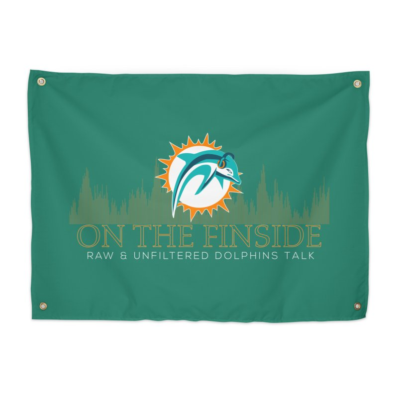 Aqua Fire Home Tapestry by OnTheFinSide's Artist Shop