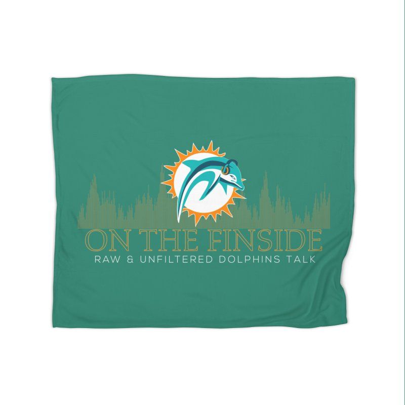 Aqua Fire Home Blanket by OnTheFinSide's Artist Shop