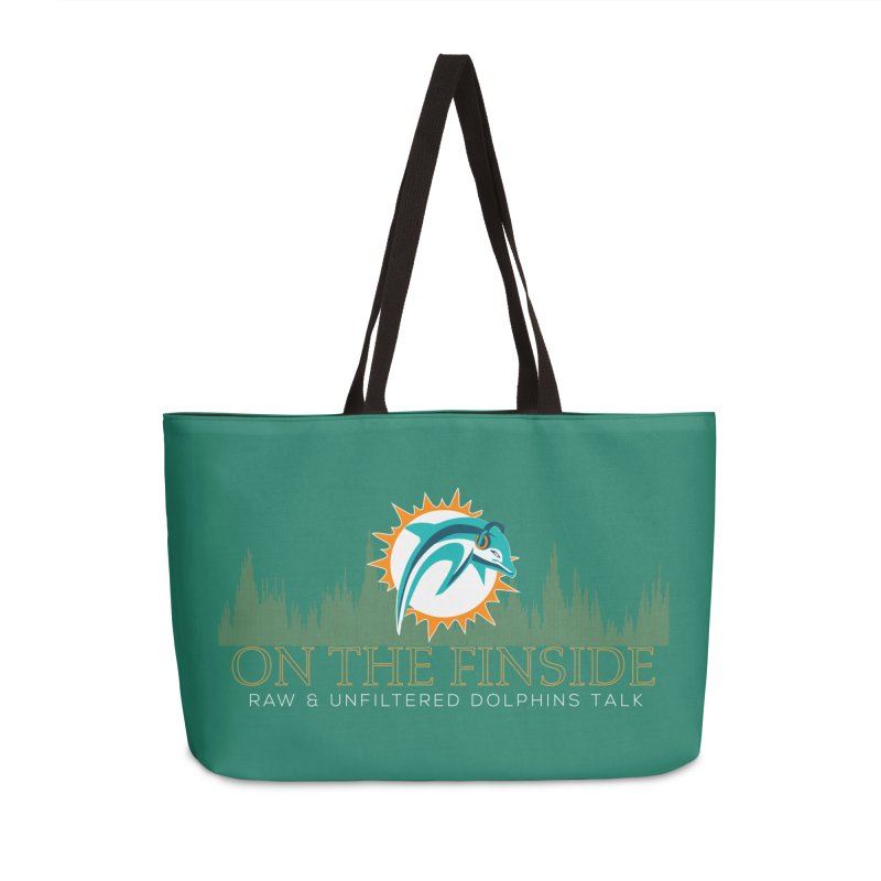 Aqua Fire Accessories Weekender Bag Bag by On The Fin Side's Artist Shop