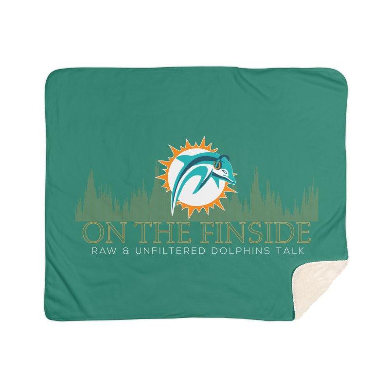 Aqua Fire Home Sherpa Blanket Blanket by On The Fin Side's Artist Shop