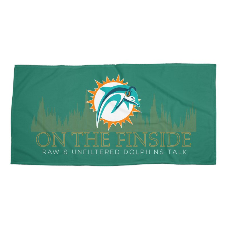 Aqua Fire Accessories Beach Towel by OnTheFinSide's Artist Shop