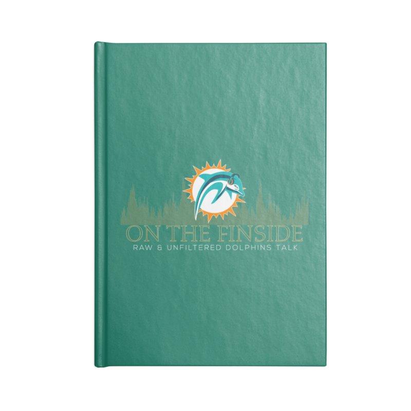Aqua Fire Accessories Notebook by OnTheFinSide's Artist Shop