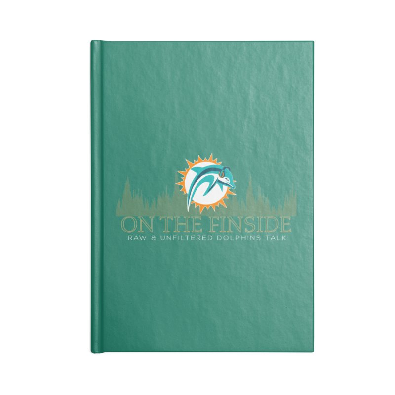 Aqua Fire Accessories Lined Journal Notebook by On The Fin Side's Artist Shop