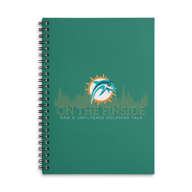Aqua Fire Accessories Notebook by On The Fin Side's Artist Shop