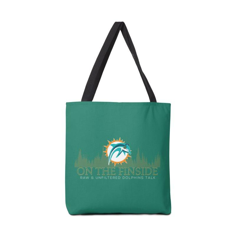 Aqua Fire Accessories Bag by OnTheFinSide's Artist Shop