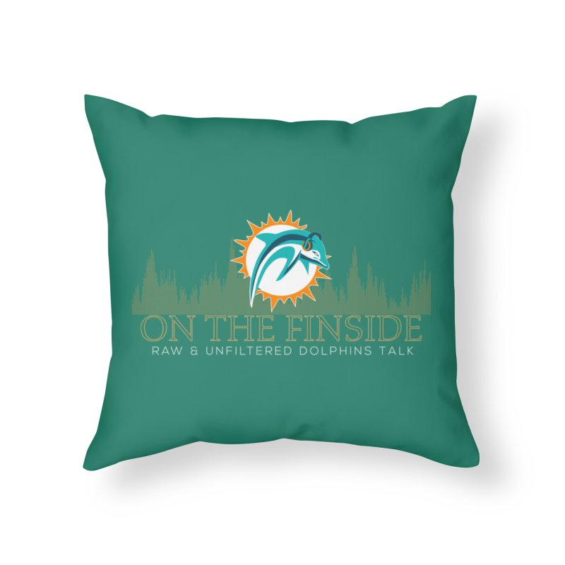 Aqua Fire Home Throw Pillow by On The Fin Side's Artist Shop