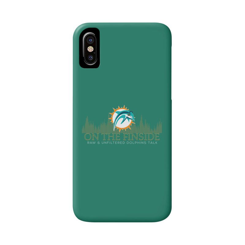 Aqua Fire Accessories Phone Case by On The Fin Side's Artist Shop