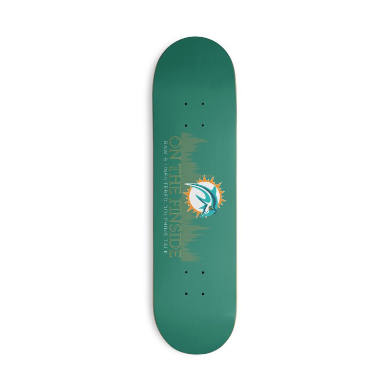 Aqua Fire Accessories Skateboard by On The Fin Side's Artist Shop