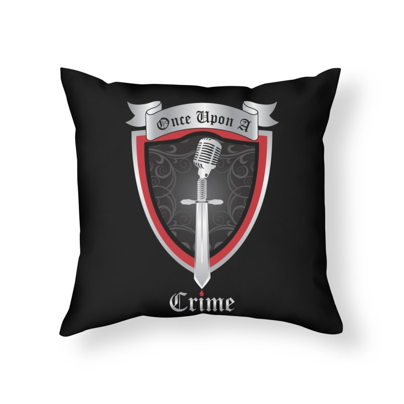 Once Upon A Crime Logo Home Throw Pillow by Once Upon a Crime
