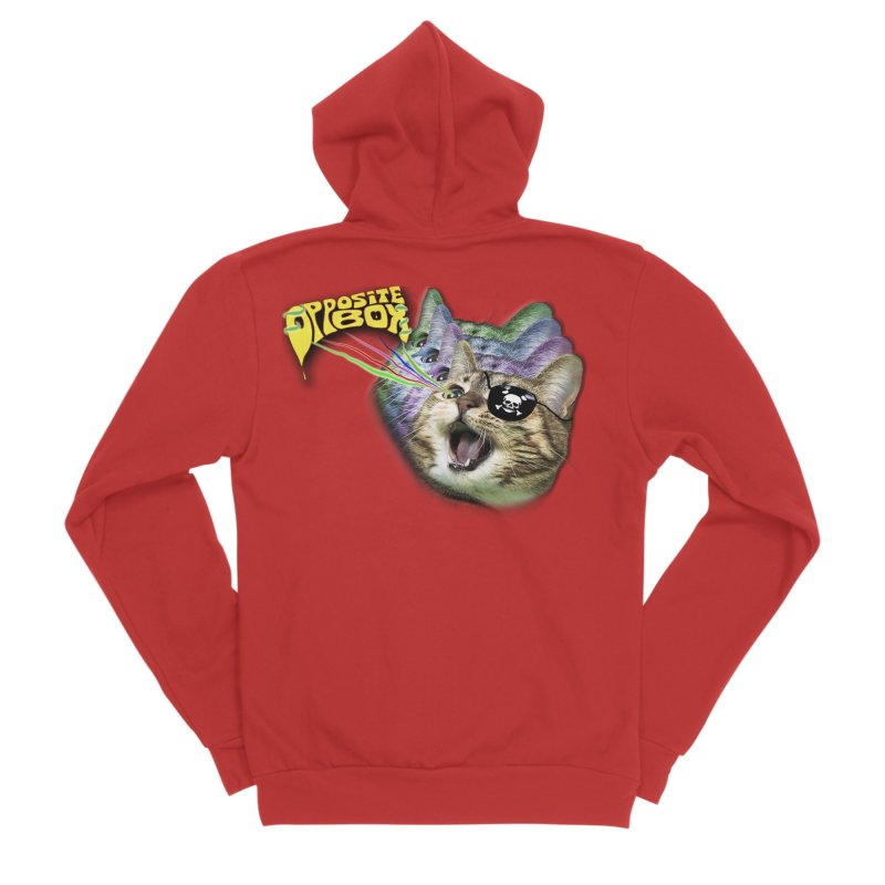 Lazer Pirate Kitty Men's Zip-Up Hoody by Oppositebox's Online Shop