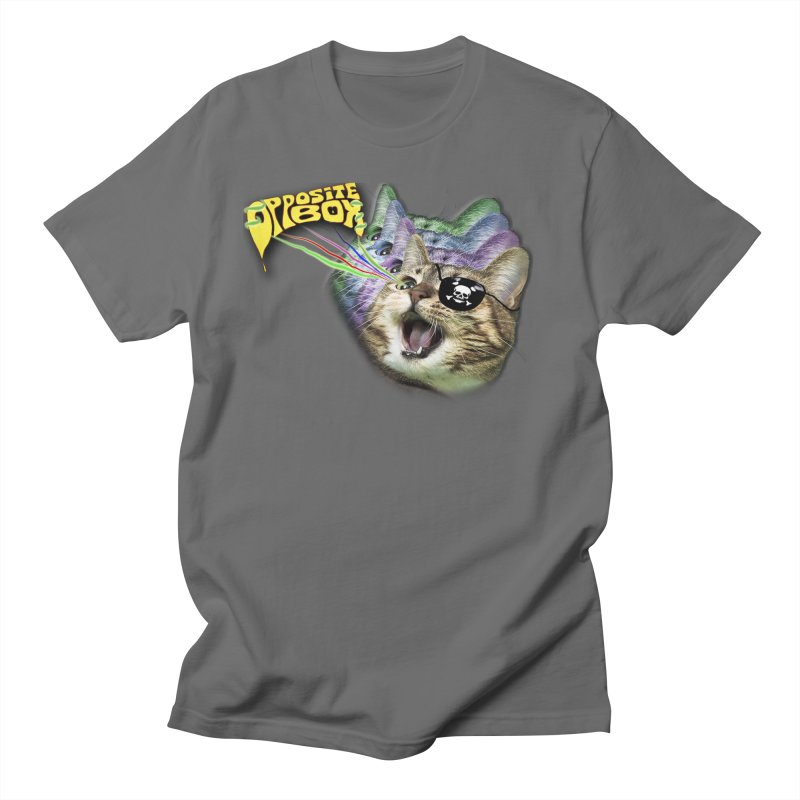 Lazer Pirate Kitty Men's T-Shirt by Oppositebox's Online Shop