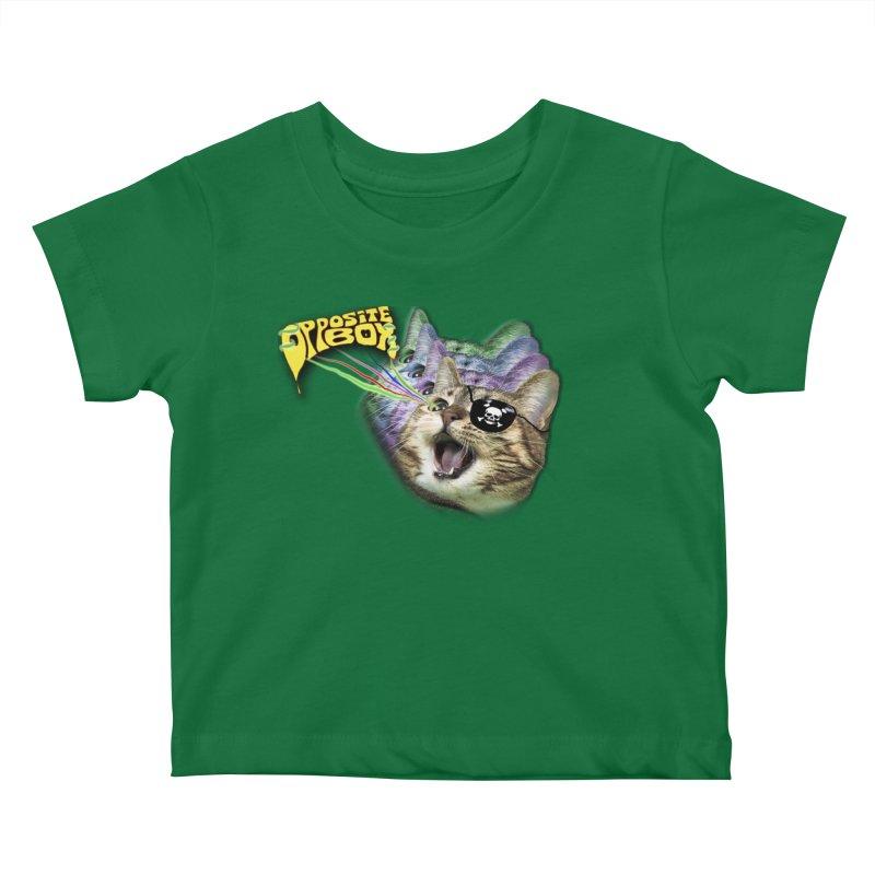 Lazer Pirate Kitty Kids Baby T-Shirt by Oppositebox's Online Shop