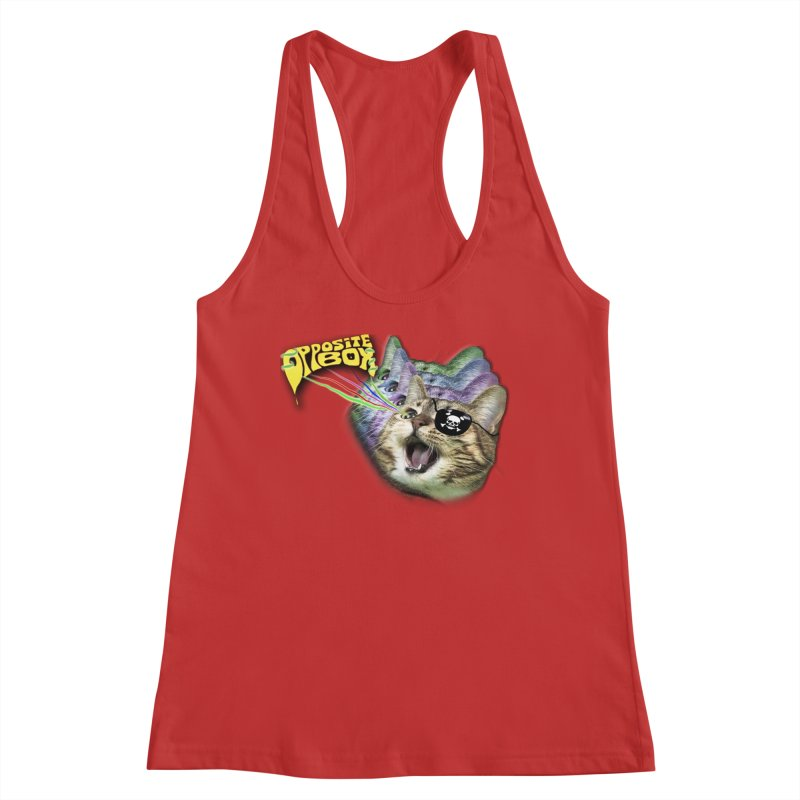 Lazer Pirate Kitty Women's Tank by Oppositebox's Online Shop