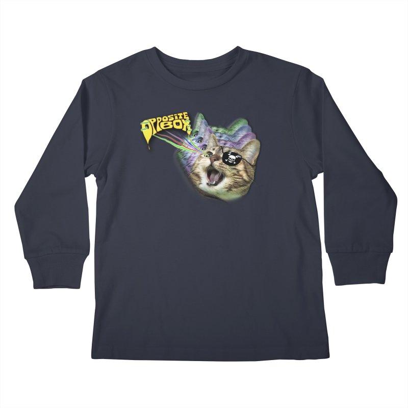 Lazer Pirate Kitty Kids Longsleeve T-Shirt by Oppositebox's Online Shop