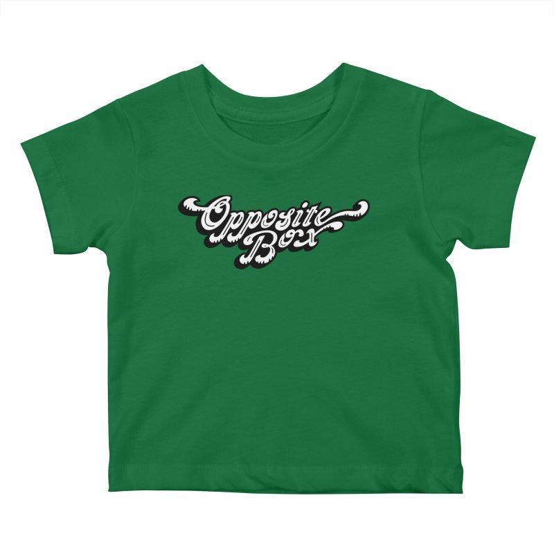Opposite Box logo Kids Baby T-Shirt by Oppositebox's Online Shop