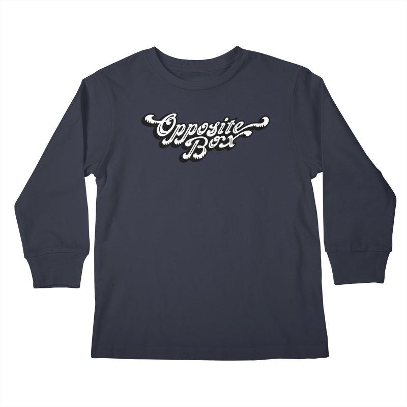 Opposite Box logo Kids Longsleeve T-Shirt by Oppositebox's Online Shop