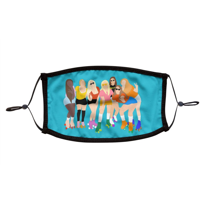 Roller Girl Squad Accessories Face Mask by Oppositebox's Online Shop