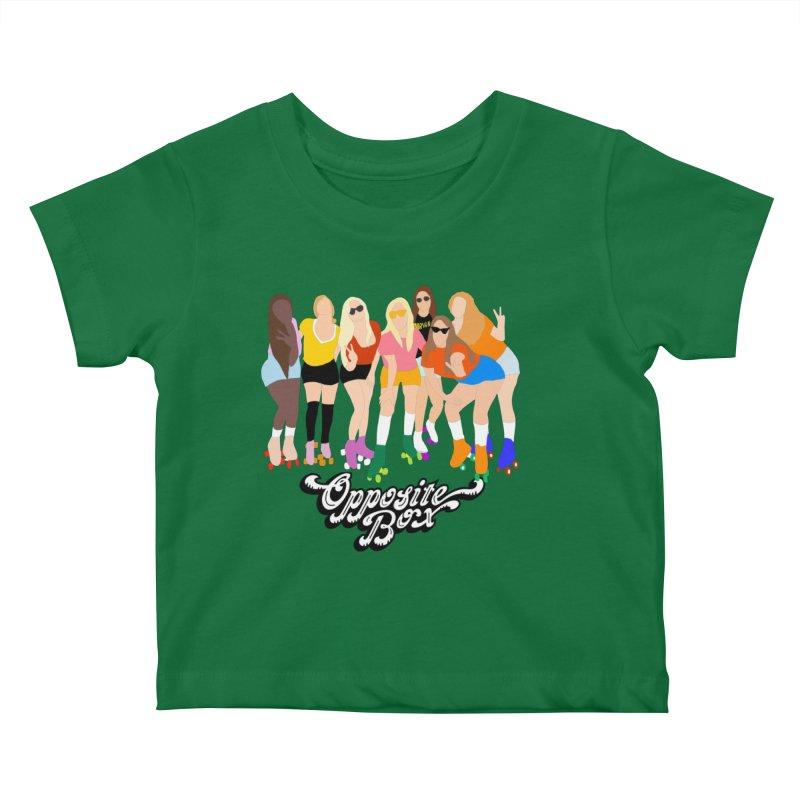 Roller Girl Squad Kids Baby T-Shirt by Oppositebox's Online Shop