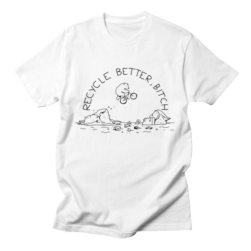 Clint The Polar Bear Men's T-Shirt by Orglod's Artist Shop