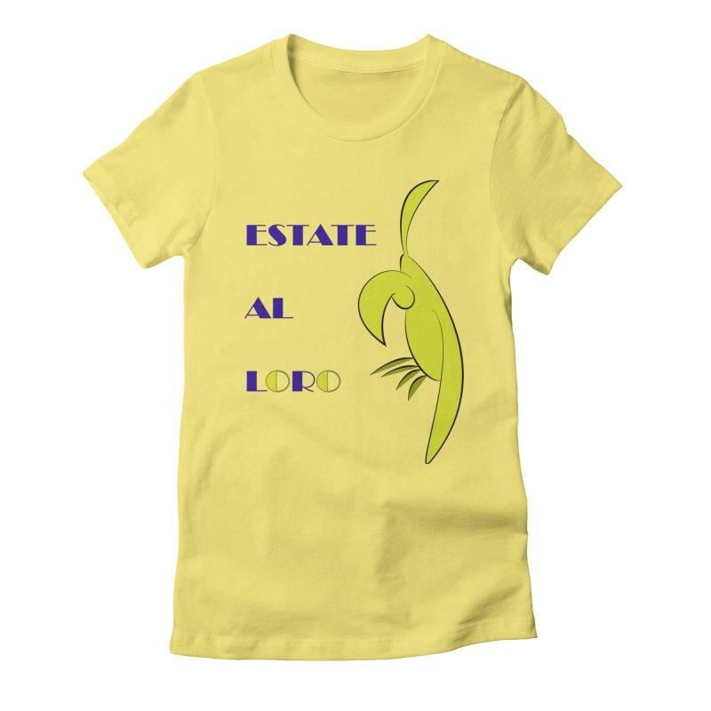 Estate al loro Women's Fitted T-Shirt by OsKarTel's Artist Shop