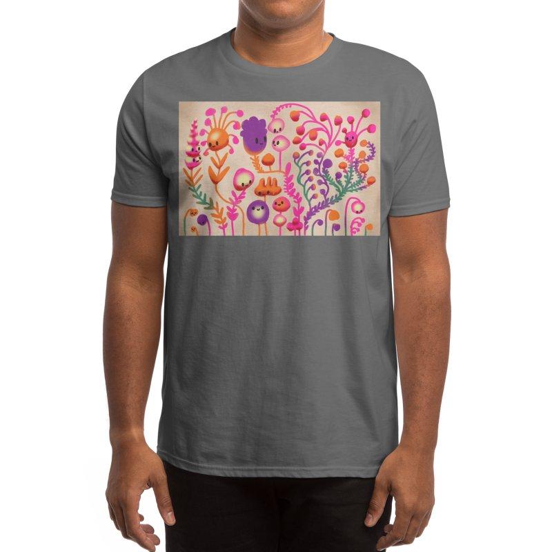 Happy Flowers Men's T-Shirt by Ossyhello's Artist Shop