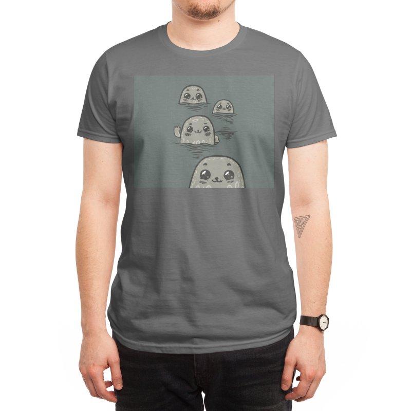 Happy Seals Men's T-Shirt by Ossyhello's Artist Shop