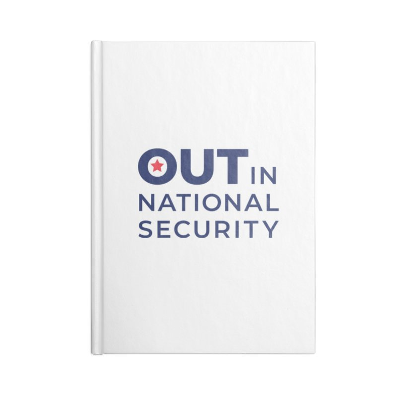 Stacked Logo -Color Accessories Notebook by Out in National Security's Shop