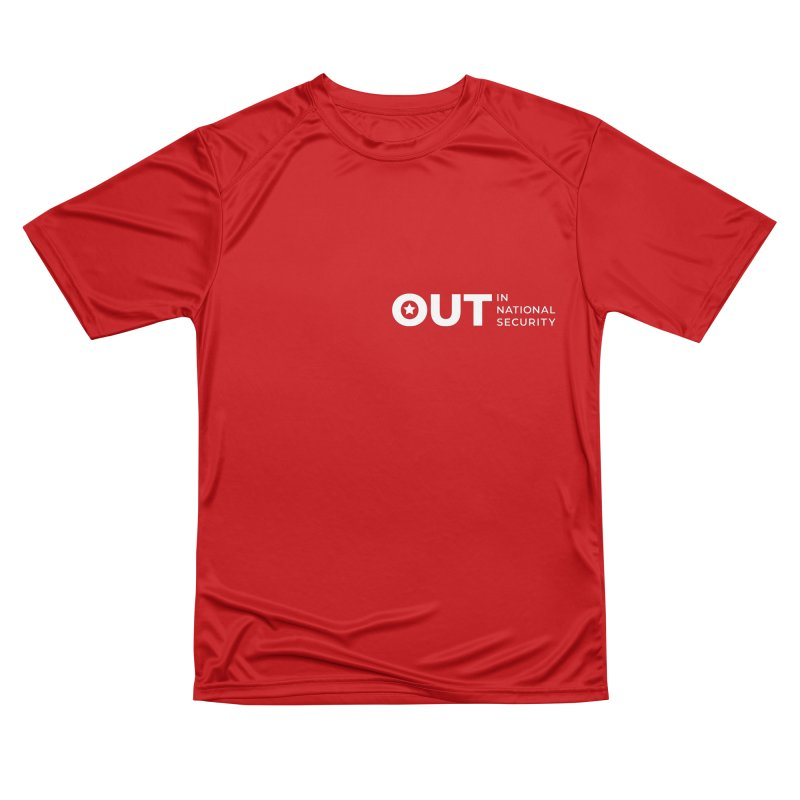 Horizontal Logo -White All Genders T-Shirt by Out in National Security's Shop