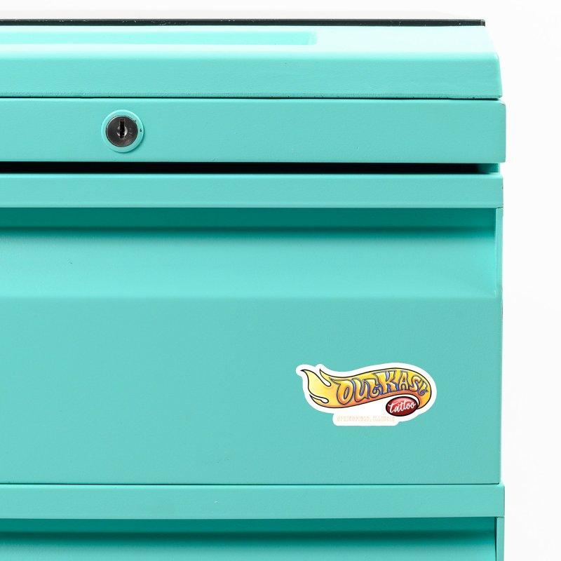 "OUTKAST TATTOO ""HOTKAST"" LOGO Accessories Magnet by OutkastTattooCompany's Artist Shop"