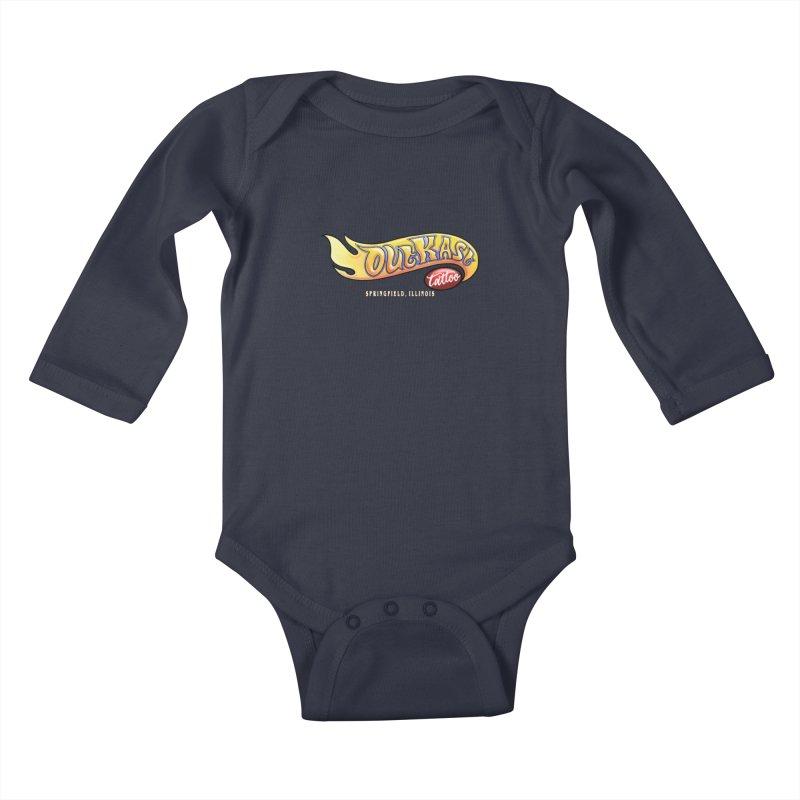 """OUTKAST TATTOO """"HOTKAST"""" LOGO Kids Baby Longsleeve Bodysuit by OutkastTattooCompany's Artist Shop"""
