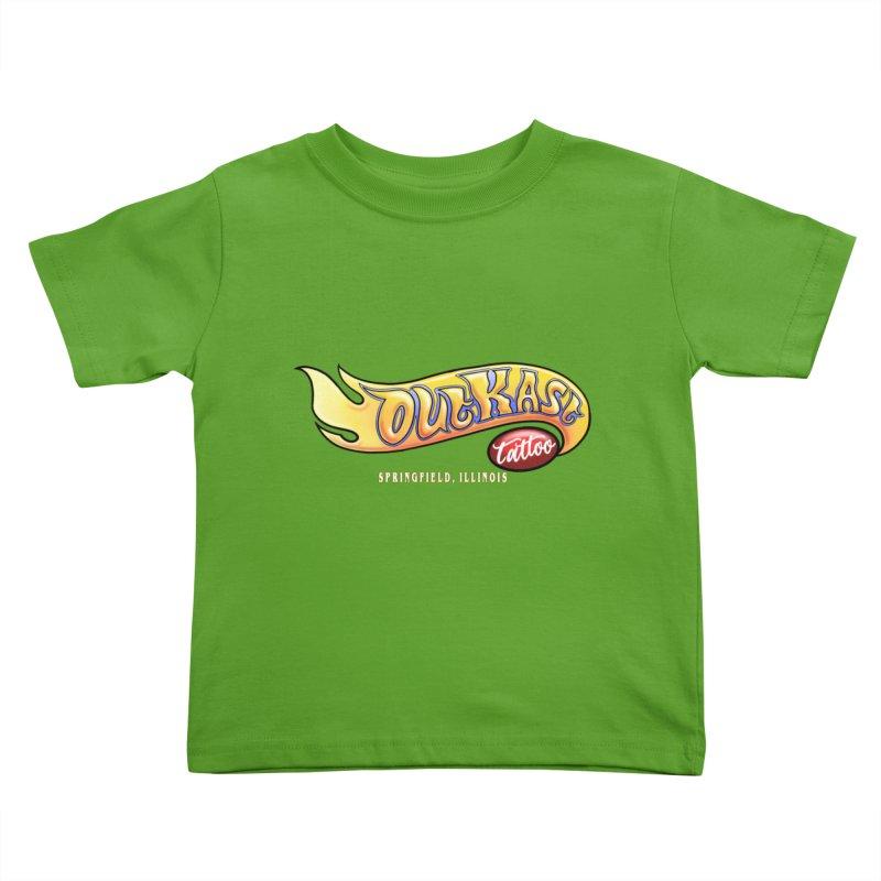 "OUTKAST TATTOO ""HOTKAST"" LOGO Kids Toddler T-Shirt by OutkastTattooCompany's Artist Shop"