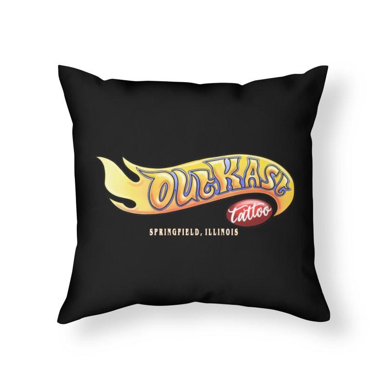 "OUTKAST TATTOO ""HOTKAST"" LOGO Home Throw Pillow by OutkastTattooCompany's Artist Shop"