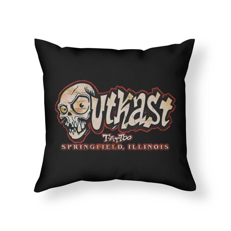 OG LOGO COLOR Home Throw Pillow by OutkastTattooCompany's Artist Shop
